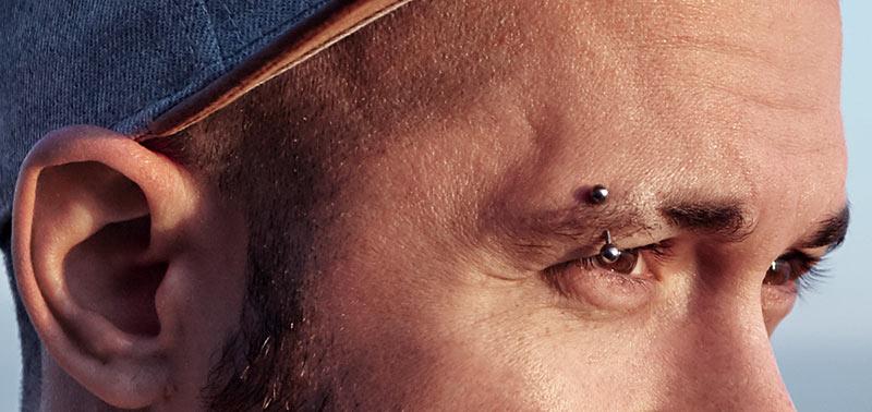 legendary piercings - eyebrow